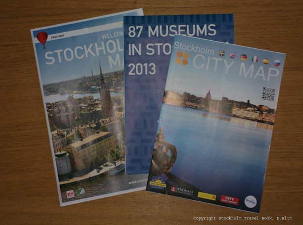 Stockholm city map - maps to pick up for free